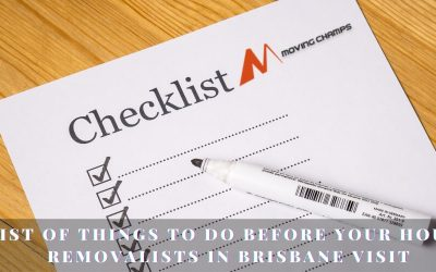 List of things to do before your house removalists in Brisbane visit