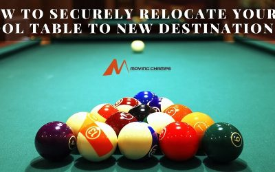 How To Securely Relocate Your Pool Table To New Destination